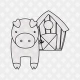 Farm- der Tieredesign Lizenzfreies Stockbild