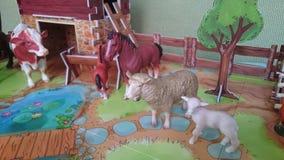 Farm- der Tieredioramaanzeige Stockbilder