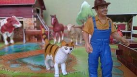 Farm- der Tieredioramaanzeige Stockfoto