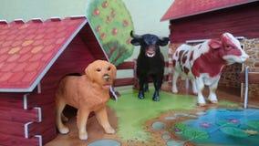 Farm- der Tieredioramaanzeige Lizenzfreies Stockfoto