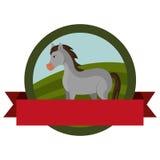 Farm- der Tiereemblem mit Band Lizenzfreie Stockfotografie