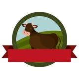 Farm- der Tiereemblem mit Band Lizenzfreie Stockbilder