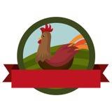 Farm- der Tiereemblem mit Band Stockbild