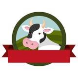 Farm- der Tiereemblem mit Band Lizenzfreies Stockfoto
