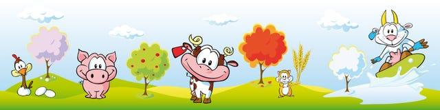 Farm der Tierefahne Stockfotos