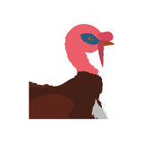 Farm- der Tierehaustiercharakterikone der Türkei Dekorativer Hintergrund als stilisiert Strudel der Wellen Lizenzfreies Stockfoto