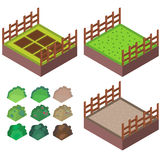 Farm. Design for game 3d Royalty Free Stock Photo