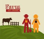 Farm design. Over beige background vector illustration stock illustration