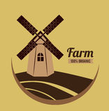 Farm design. Over brown background vector illustration Royalty Free Stock Images