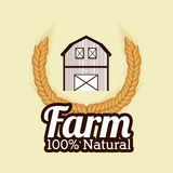 Farm design, vector illustration. Royalty Free Stock Photography