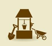 Farm design, vector illustration. Stock Photo