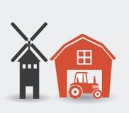 Farm design, vector illustration. Royalty Free Stock Photo