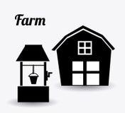 Farm design, vector illustration. Royalty Free Stock Image