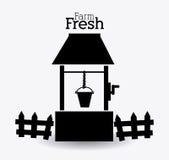 Farm design, vector illustration. Stock Images