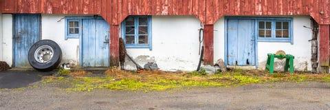 Farm detail panorama norway Stock Photos