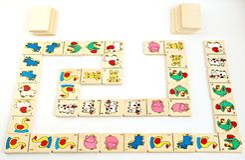 Farm dominoes Royalty Free Stock Image