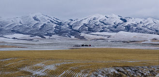 Farm on the East Side of the Sublette Range Royalty Free Stock Images