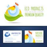 Farm eco production branding style template mockup Stock Image