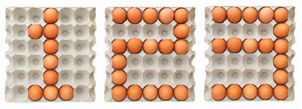 Farm egg forming text 123 Royalty Free Stock Photography