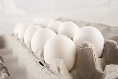 Farm eggs in its carton Royalty Free Stock Photos