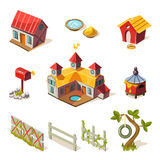 Farm Elements Collection Royalty Free Stock Photography