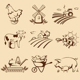 Farm emblems Stock Image