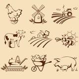 Farm emblems royalty free illustration
