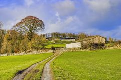 Farm in English countryside Royalty Free Stock Images