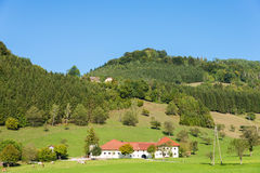 Farm in the Enns valley, Upper Austria Royalty Free Stock Image