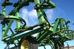 Farm Equipment. At an angle, room for text Stock Photography