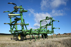 Farm Equipment. Sitting in the winter Stock Images