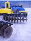 Farm equipment. Agricultural farm machinery, heavy equipment Stock Photography