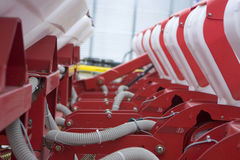 Farm equipment. Agricultural farm machinery, heavy equipment Royalty Free Stock Image