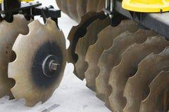 Farm equipment. Agricultural farm machinery, heavy equipment Stock Photo