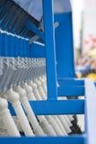Farm equipment. Agricultural farm machinery, heavy equipment Stock Photos