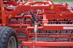 Farm equipment. Agricultural farm machinery, heavy equipment Royalty Free Stock Photography