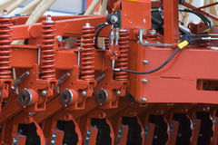 Farm equipment. Agricultural farm machinery, heavy equipment Royalty Free Stock Images