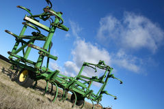 Farm Equipment Angled. Farm equipment sitting at an angle Stock Photography