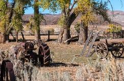 Farm equipment cemetery Stock Photos