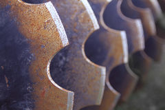 Farm equipment, disk closeup Royalty Free Stock Images