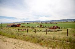 Farm equipment graveyard Stock Photo