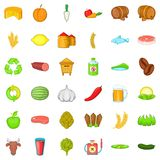 Farm equipment icons set, cartoon style. Farm equipment icons set. Cartoon style of 36 farm equipment vector icons for web isolated on white background Royalty Free Stock Image