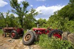 Farm Equipment Junkyard Landscape Royalty Free Stock Photos