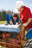 Farm Equipment Maintenance Stock Photo