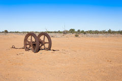 Farm equipment in outback Australia. Stock Images