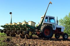 Farm Equipment Ready To Plant Stock Image