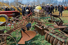 Farm Equipment For Sale at Auction Stock Image