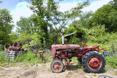 Farm Equipment Tractor Junkyard Landscape Royalty Free Stock Photo