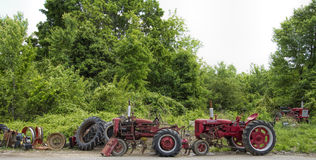 Farm Equipment Tractor Junkyard Landscape Royalty Free Stock Image