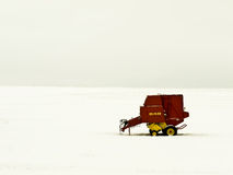 Farm Equipment Winter Landscape Stock Image